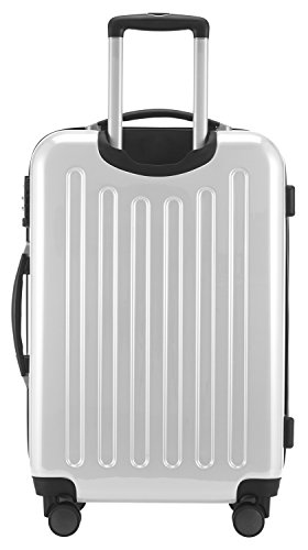 HAUPTSTADTKOFFER – Alex – Hartschalenkoffer Trolley Rollkoffer Reisekoffer Erweiterbar, TSA, Doppelrollen, 65 cm, 74 Liter, Weiß - 6