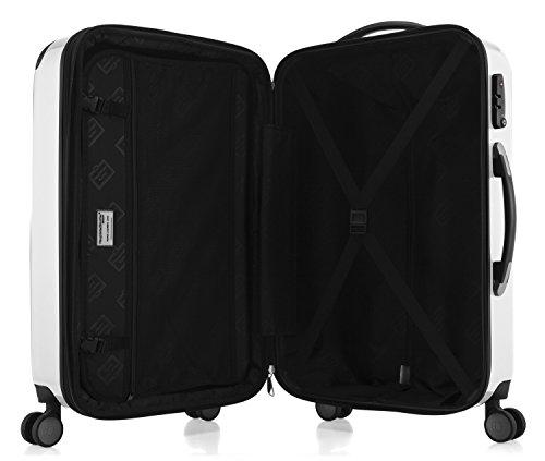 HAUPTSTADTKOFFER – Alex – Hartschalenkoffer Trolley Rollkoffer Reisekoffer Erweiterbar, TSA, Doppelrollen, 65 cm, 74 Liter, Weiß - 7