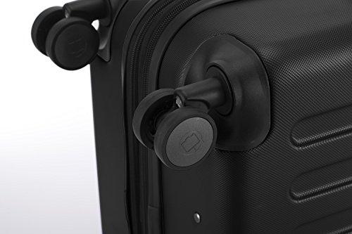 HAUPTSTADTKOFFER® Hartschalen Koffer SPREE 1203 · NEU 4 Doppel-Rollen · MATT · TSA Zahlenschloss · + KOFFERANHÄNGER (128 Liter, Schwarz) - 7