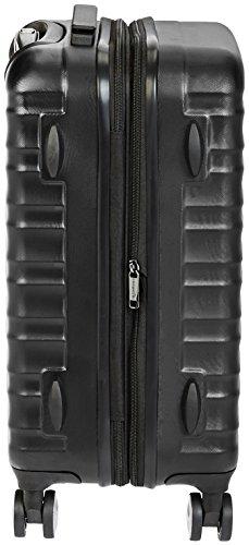 AmazonBasics – Hochwertiger Hartschalen-Trolley mit Schwenkrollen und eingebautem TSA-Schloss – 55 cm, Handgepäck, Schwarz, Genehmigt als Handgepäck auf vielen Airlines - 2