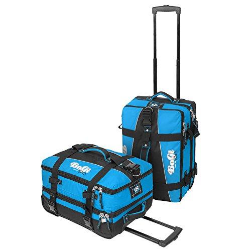 BoGi Bag Trolley Reisetasche Check-In Koffer 48 cm, blau/schwarz - 8