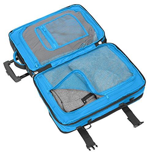 BoGi Bag Trolley Reisetasche Check-In Koffer 48 cm, blau/schwarz - 4