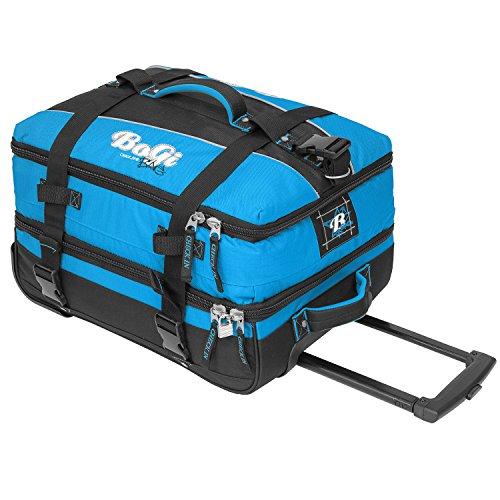 BoGi Bag Trolley Reisetasche Check-In Koffer 48 cm, blau/schwarz - 3