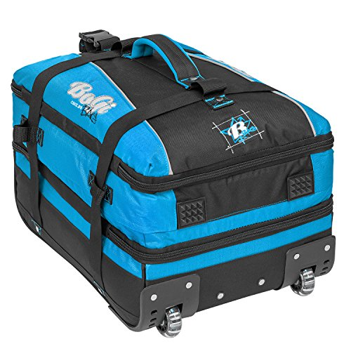 BoGi Bag Trolley Reisetasche Check-In Koffer 48 cm, blau/schwarz - 5
