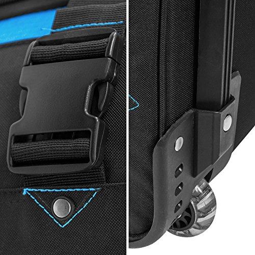 BoGi Bag Trolley Reisetasche Check-In Koffer 48 cm, blau/schwarz - 6