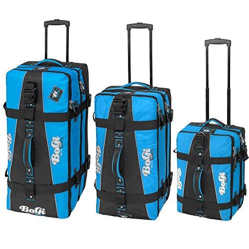 BoGi Bag Trolley Reisetasche Check-In Koffer 48 cm, blau/schwarz - 7