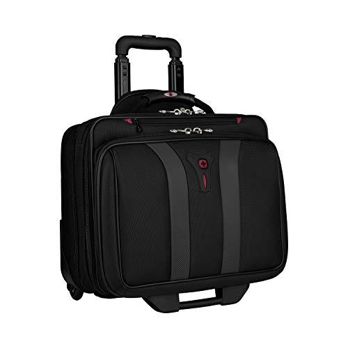 Wenger 600659 GRANADA 17-Zoll-Rad-Laptop-Tasche, gepolsterte Laptopfach mit Übernachtung Fach in schwarz / grau {24 Liter}