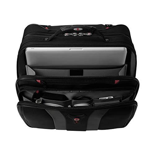 Wenger 600659 GRANADA 17-Zoll-Rad-Laptop-Tasche, gepolsterte Laptopfach mit Übernachtung Fach in schwarz / grau {24 Liter} - 3