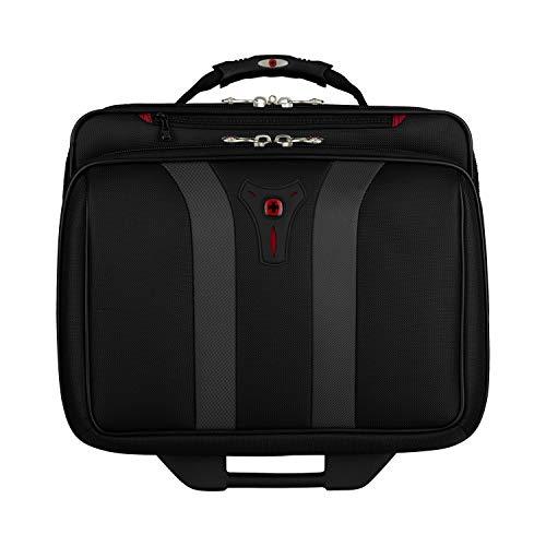 Wenger 600659 GRANADA 17-Zoll-Rad-Laptop-Tasche, gepolsterte Laptopfach mit Übernachtung Fach in schwarz / grau {24 Liter} - 5