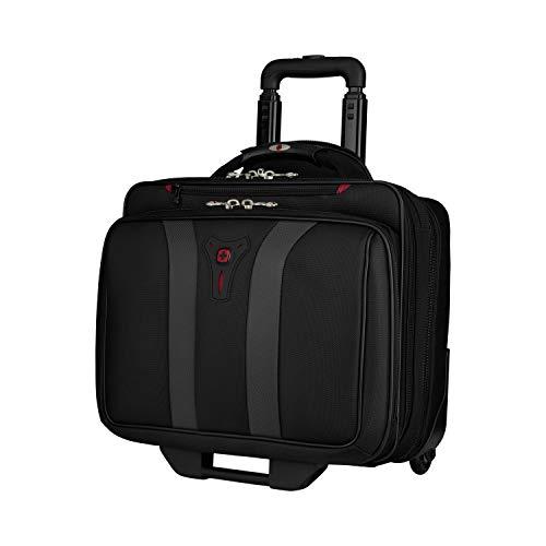 Wenger 600659 GRANADA 17-Zoll-Rad-Laptop-Tasche, gepolsterte Laptopfach mit Übernachtung Fach in schwarz / grau {24 Liter} - 2