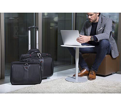 Wenger 600662 PATRIOT 17″ 2-teiliges Business Wheeled Laptop Aktentasche, gepolsterte Laptopfach mit passenden 15,4-Zoll-Laptop-Tasche in schwarz {25 Liter} - 2