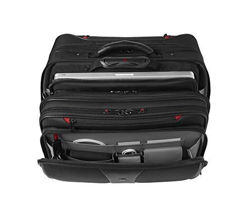 Wenger 600662 PATRIOT 17″ 2-teiliges Business Wheeled Laptop Aktentasche, gepolsterte Laptopfach mit passenden 15,4-Zoll-Laptop-Tasche in schwarz {25 Liter} - 3