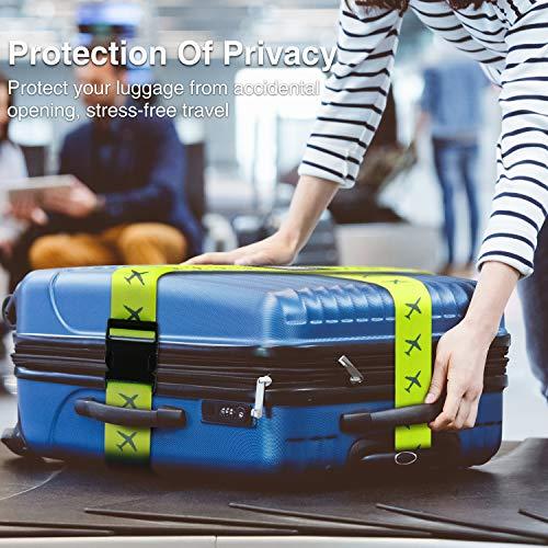 Mture Koffergurt, Gepäckgurt 4 Stück Einstellbare Kofferband Hochwertige Lange Koffergurte zum Sicheren Verschließen der Koffers auf Reisen und Kennzeichnen von Gepäck - 2