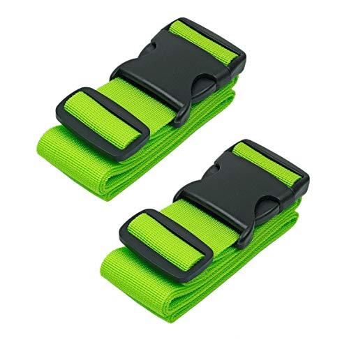 CSTOM 2 Stück Koffergurt Kofferband Koffer Gepäckgurte Lang, Grün - 2