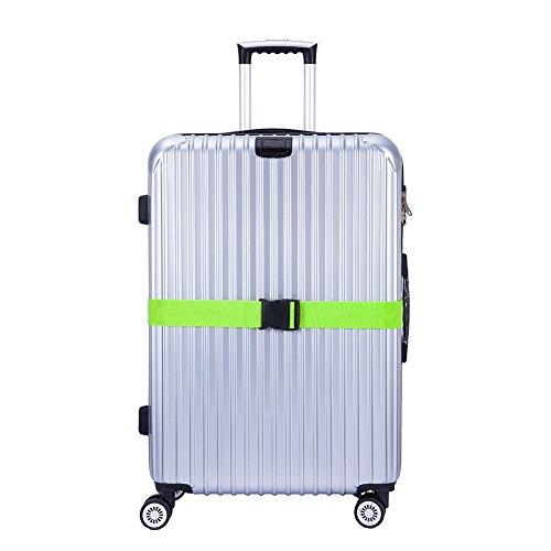 CSTOM 2 Stück Koffergurt Kofferband Koffer Gepäckgurte Lang, Grün - 4
