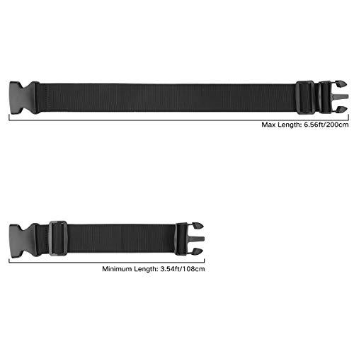 Luxebell Gepäckgurt, 2 Stück Koffergurt Kofferband Koffer Gepäckgurte Lang (Schwarz) - 5