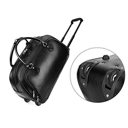 Kofferrollen MOHOO 50x18mm ersatzrollen Gummi Rollen Räder ein Paar mute ersatz Wheels für Gepäck-Koffer - 3