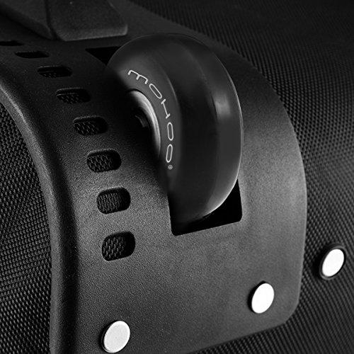 Kofferrollen MOHOO 50x18mm ersatzrollen Gummi Rollen Räder ein Paar mute ersatz Wheels für Gepäck-Koffer - 5