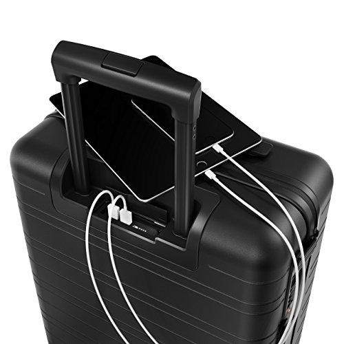 HORIZN STUDIOS H5 Handgepäck |mit 4 Rollen, Powerbank und TSA Schloss, Schwarz (All Black) - 3