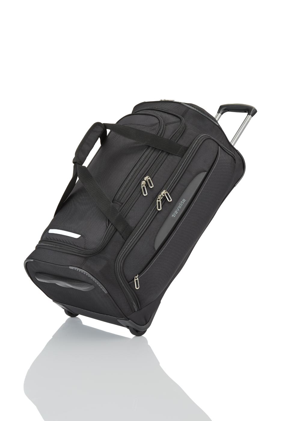 Travelite Crosslite 4.0 Rollen-Reisetasche M 2w schwarz 089502-01
