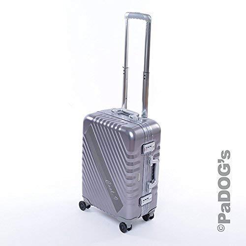 Aluminium-Reisekoffer dunkel grau S