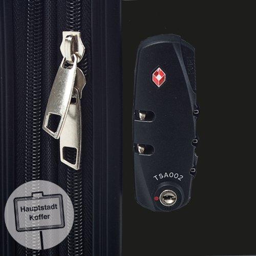 HAUPTSTADTKOFFER – Alex – Handgepäck Koffer Hartschale  – TSA – 42 Liter - 7