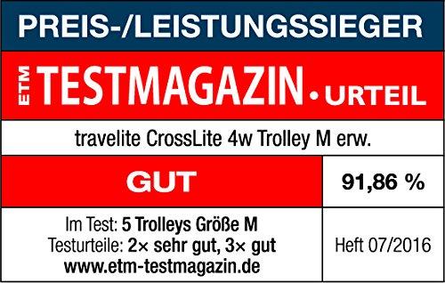 Travelite CrossLITE 4-Rollen-Trolley M – erweiterbar – 70 Liter - 6