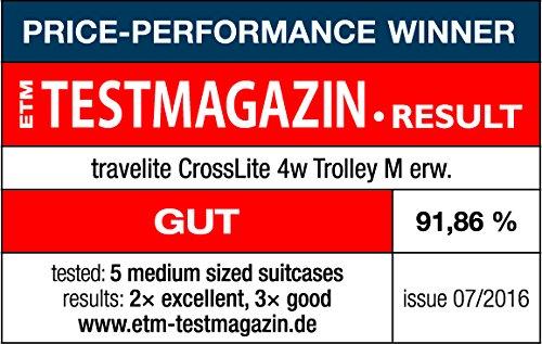 Travelite CrossLITE 4-Rollen-Trolley M – erweiterbar – 70 Liter - 9