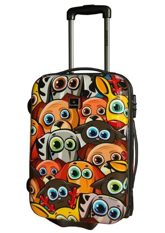 Saxoline Funny Animals 4-Rollen-Trolley - 85 Liter