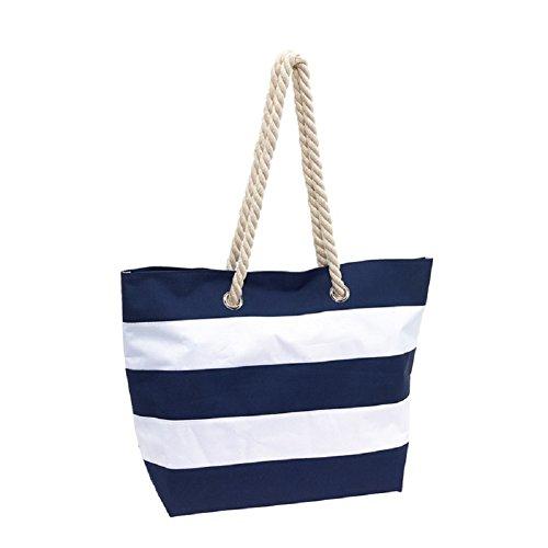 Strandtasche Sylt Badetasche Tragetasche Einkaufstasche Umhängetasche XL blau