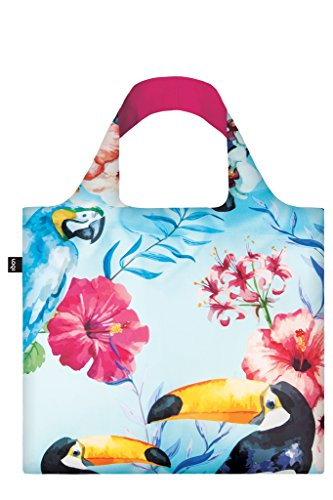 WILD Birds Bag: Gewicht 55 g, Größe 50 x 42 cm, Zip-Etui 11 x 11.5 cm, handle 27 cm, water resistant, made of polyester, OEKO-TEX certified, can carry up to 20 kg
