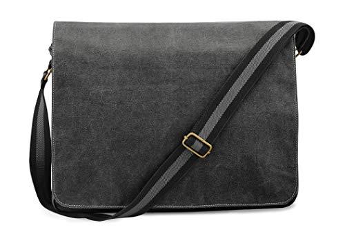 Shirtstown Vintage Canvas Despatch Bag, Schultasche, Umhängetasche black