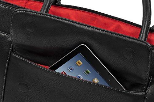 """RIVACASE """"8991 Black"""" Kunstleder Damen Business Notebook Schultertasche mit Anti-Shock Polsterung für Laptops bis 15.6″ & Tablets bis 10.1″, Schwarz - 11"""