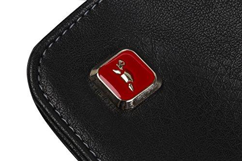 """RIVACASE """"8991 Black"""" Kunstleder Damen Business Notebook Schultertasche mit Anti-Shock Polsterung für Laptops bis 15.6″ & Tablets bis 10.1″, Schwarz - 12"""