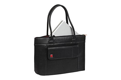 """RIVACASE """"8991 Black"""" Kunstleder Damen Business Notebook Schultertasche mit Anti-Shock Polsterung für Laptops bis 15.6″ & Tablets bis 10.1″, Schwarz - 6"""