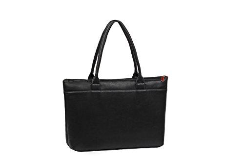 """RIVACASE """"8991 Black"""" Kunstleder Damen Business Notebook Schultertasche mit Anti-Shock Polsterung für Laptops bis 15.6″ & Tablets bis 10.1″, Schwarz - 2"""