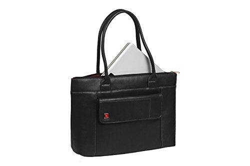 """RIVACASE """"8991 Black"""" Kunstleder Damen Business Notebook Schultertasche mit Anti-Shock Polsterung für Laptops bis 15.6″ & Tablets bis 10.1″, Schwarz - 4"""