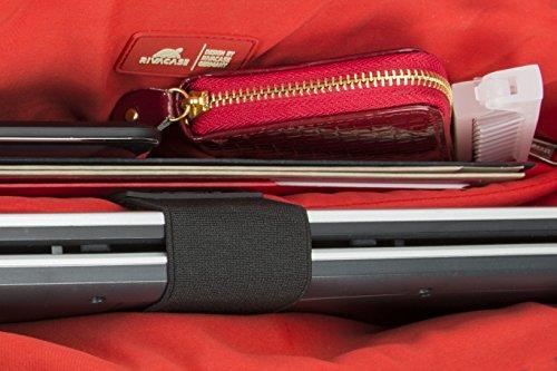 """RIVACASE """"8991 Black"""" Kunstleder Damen Business Notebook Schultertasche mit Anti-Shock Polsterung für Laptops bis 15.6″ & Tablets bis 10.1″, Schwarz - 8"""