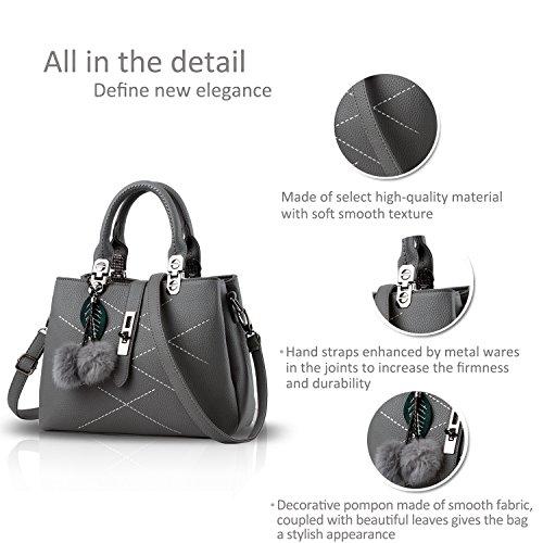 Nicole&Doris 2016 neue Welle Paket Kuriertasche Damen weiblichen Beutel Handtaschen für Frauen Handtasche(Gray) - 5