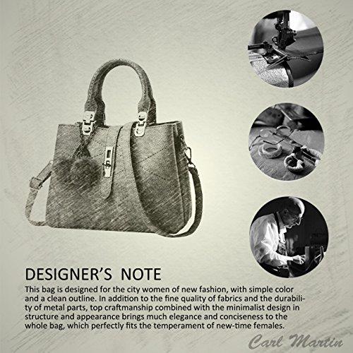 Nicole&Doris 2016 neue Welle Paket Kuriertasche Damen weiblichen Beutel Handtaschen für Frauen Handtasche(Gray) - 6