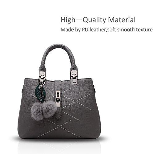 Nicole&Doris 2016 neue Welle Paket Kuriertasche Damen weiblichen Beutel Handtaschen für Frauen Handtasche(Gray) - 3