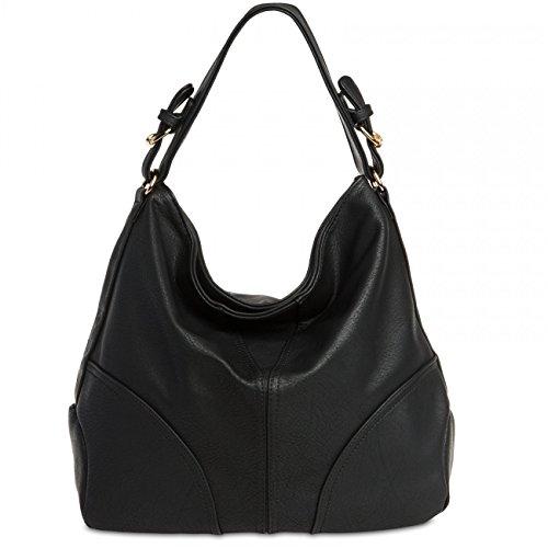CASPAR TS940 Damen Schultertasche, Farbe:schwarz