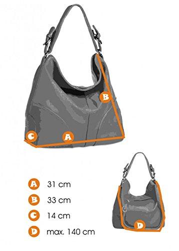 CASPAR TS940 Damen Schultertasche, Farbe:schwarz - 6
