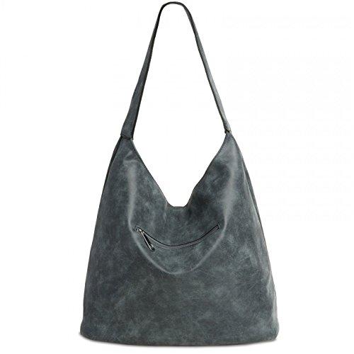 CASPAR TS1015 Damen Vintage Schultertasche , Farbe:dunkelblau;Größe:One Size - 2