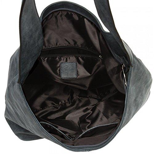 CASPAR TS1015 Damen Vintage Schultertasche , Farbe:dunkelblau;Größe:One Size - 3