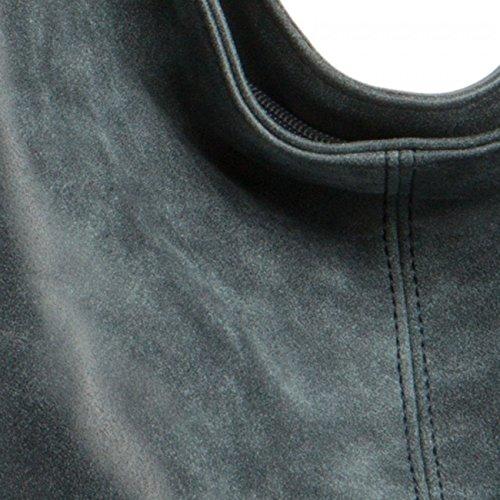 CASPAR TS1015 Damen Vintage Schultertasche , Farbe:dunkelblau;Größe:One Size - 4