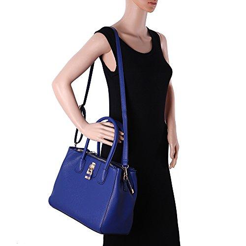 LeahWard® Damen Mode Desinger Qualität Tragetaschen Damen Modisch Hotselling Handtaschen Große Größe Einkaufstaschen CWS00195A (Marine) - 5