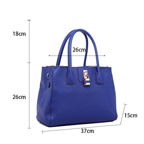 LeahWard® Damen Mode Desinger Qualität Tragetaschen Damen Modisch Hotselling Handtaschen Große Größe Einkaufstaschen CWS00195A (Marine) - 6
