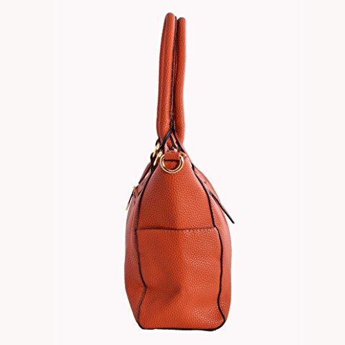 LeahWard Damen mode Tote Taschen Elegante Berühmtheits-Art Schultertasche Tasche Handtasche 14004 (Schwarz) - 5
