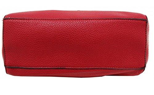 LeahWard Damen mode Tote Taschen Elegante Berühmtheits-Art Schultertasche Tasche Handtasche 14004 (Schwarz) - 6